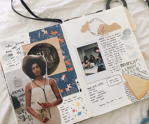 Collage, creative, and bullet journal image