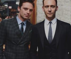 sebastian stan, tom hiddleston, and Avengers image