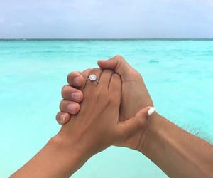 couple, ocean, and Relationship image