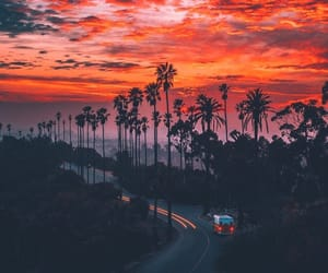 sunset, travel, and goals image