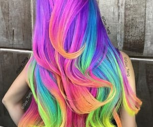 color, colorfull, and hair image