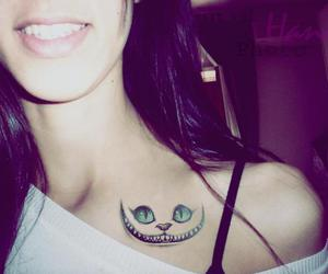 cat, smile, and tattoo image