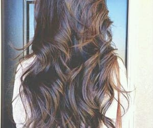 brown, wavy, and girl image