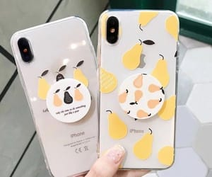 iphone, case, and fruit image
