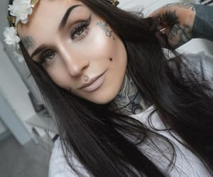 tattoed girl, tattos, and monami frost image