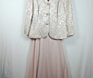 chiffon, formal wear, and pearl image