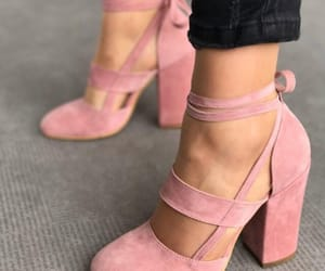 foot, pink, and heel image