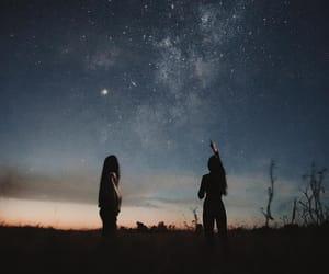 galaxy, night, and stars image