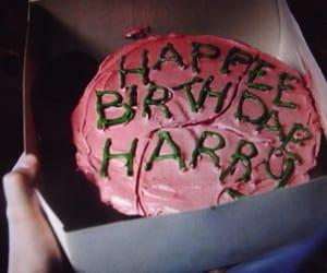 cake, harry potter, and hagrid image
