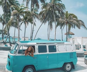 teal, volkswagen, and vw bus image