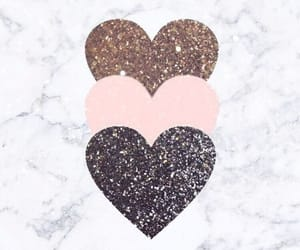 background, hearts, and marble image