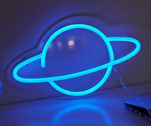 blue, neon, and planet image