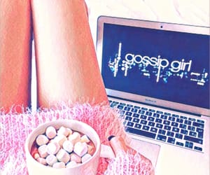 gossip girl, pink, and drink image