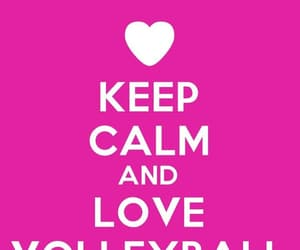 keep calm, pink, and volleyball image