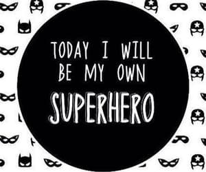 black and white, frases, and superhero image