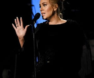 Adele, someone like you, and black image