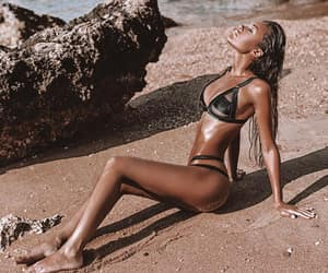 beach, natali danish, and girl image