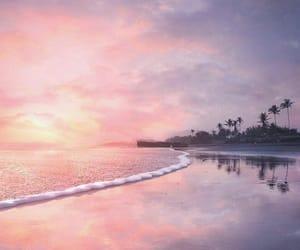 bali, sunset, and beach image