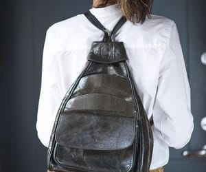 leather backpack, black backpack, and etsy image