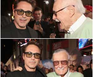 robert downey jr and stan lee image