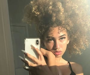 curly hair, fashion, and hair image