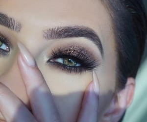 beauty, lashes, and brown image