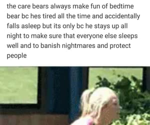 text, the care bears, and tumblr image