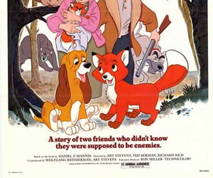 disney, movie poster, and the fox and the hound image