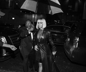 black and white, Queen, and raining image