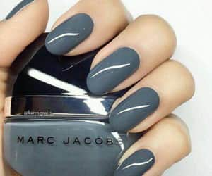 grey, nails, and marc jacobs image