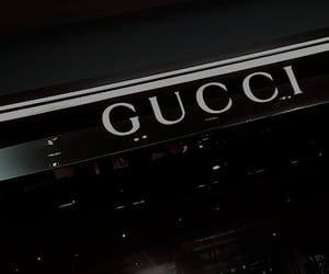 aesthetic, black, and gucci image