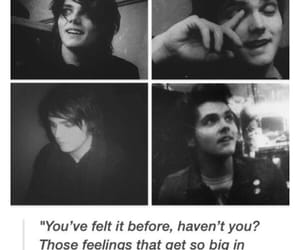 black and white, gee, and gerard way image