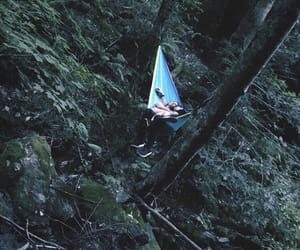 hammock, peace, and woods image