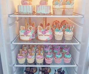 unicorn, cake, and food image