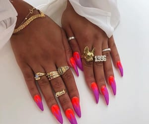 bracelets, ghetto, and nail art image