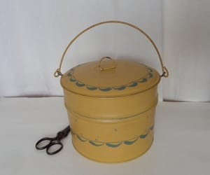 bucket, metal, and etsy image