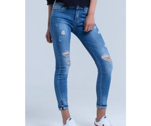 blue jeans, fashion, and skinny jeans image