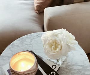 candle, inspo, and flowers image