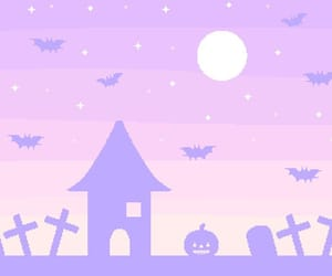 goth, Halloween, and pastel image