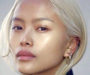 makeup, asian, and blonde image