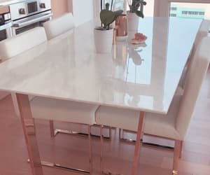 rose gold, marble table, and rose gold marble table image