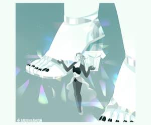 white pearl, white diamond, and steven universe image