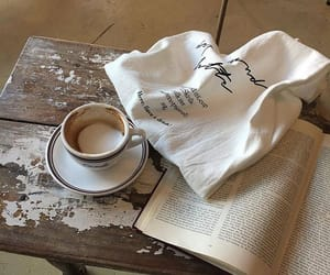 book, beige, and coffee image