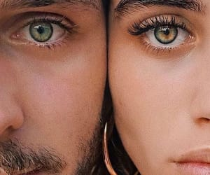 eyes, couple, and style image