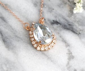 bridal necklace, crystal necklace, and etsy image