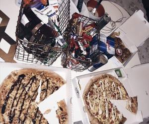 chocolates, night, and pizza image