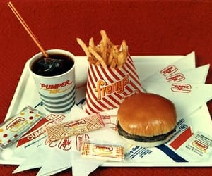 vintage, 80s, and burger image