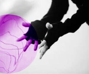 gloves, superhero, and purpule image