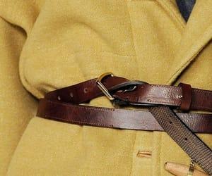 fashion, yellow, and belt image