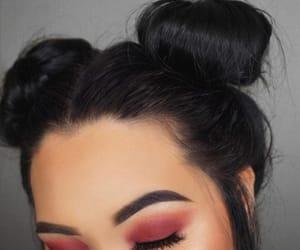 beauty, rose, and eyes image